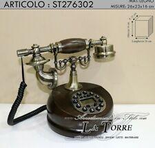 Telefono fisso vintage legno telephone stile antico colore noce st276302