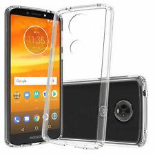 For Motorola Moto E5 Supra Clear Rubber Hybrid Cover Case Cricket