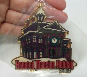 Walt Disney Travel Co HAUNTED MANSION HOLIDAY 2002 Gold Tone Christmas Ornament