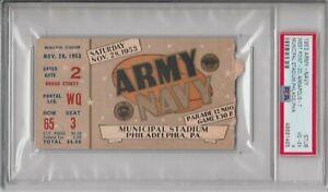1953 Army Navy Football Ticket Stub PSA 4 - Highest Grade!