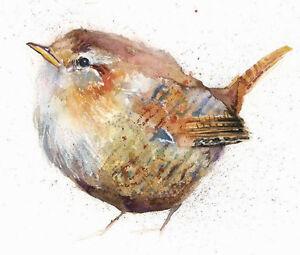 Limited Print of JENNY WREN original watercolour by HELEN APRIL ROSE   314