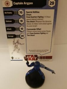 Star Wars Miniatures Captain Argyus Republic Team Builder
