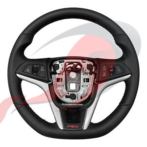 2014-2016 Sonic RS GM Black Leather Steering Wheel Red Stitching 94780615