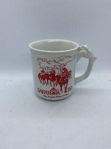 Sartoga '89 Race Horse Handle Souvenir Coffee Mug Cup NY 1989