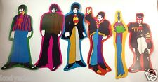Beatles Lot 6 Cardboard Pop Outs Yellow Submarine 1968 KFS Suba Cpt Fred Bonkers