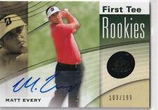 2012 UD SP GAME USED GOLF MATT EVERY FIRST TEE RC ROOKIE AUTOGRAPH AUTO /199