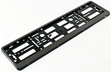 CARBON HOLDER FRAME for European Euro License Number Plate EU German FLEXIBLE !
