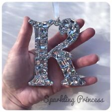 SPECCHIO Auto Appeso Ornamento cristallo qualsiasi iniziale Pendente Charm Lettera Bling