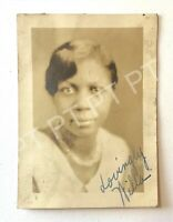 Vtg Photo Pretty Young African American Woman Signed Portrait Head Shot 1930s