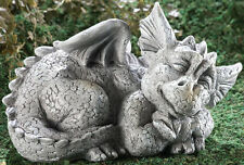Sleeping Baby Dragon Garden Yard Decor IN HAND Sculpture Patio Lawn Mythical