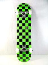 """Blank Checker GRN Complete 7.75"""" Skateboard 7ply Maple Deck 5.0 Truck 52mm Wheel"""