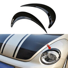 Black For VW Beetle A5 2012 - 2018 Car Head Light Lamp Eyebrow Eyelid Cover Trim