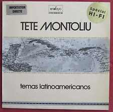 TETE MONTOLIU LP ORIG ESP  TEMAS LATINO AMERICANOS