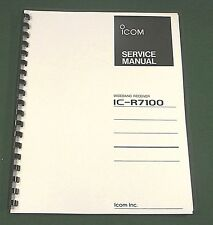 Icom IC-R7100 Service Manual - Premium Card Stock Covers & 28 LB Paper!