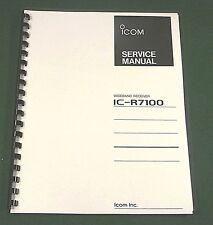 Icom IC-R7100 Service Manual - Premium Card Stock Covers & 28 LB Paper!