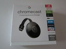 Google Chromecast Streaming Media Player 2nd Gen Latest Version Black New