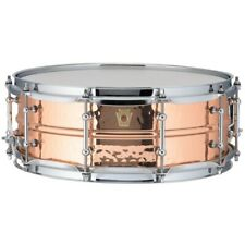 Ludwig USA LC660KT Copper Phonic 5x14 Hammered Shell Snare Drum with Tube Lugs