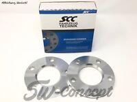 10mm 2x5mm Spurverbreiterung SCC Mercedes Spurplatten Distanzscheiben 5/112 66.6