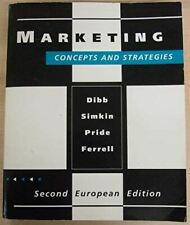Dibb, Sally, Marketing: Concepts and Strategies, Very Good, Paperback