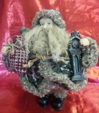 "Dan Dee Collector's Choice Woodland Santa Figurine Grandfather Clock 10"" Tall"