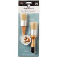 "FolkArt Home Decor Paint & Wax Brush Set-1-1/8"" Width"
