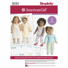 """NEW Simplicity pattern 8281 for 18"""" AMERICAN GIRL DOLL CLOTHES FREE SHIP"""