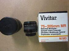 VIVITAR MR 75-205 mm 2X MATCHED MULTIPLIER FOR MINOLTA M/MD MOUNT Perfect & box
