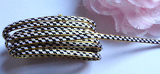 Metallic Braid, 3/16 inch wide Gold - Black -White price for 3 yard