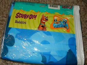 NWT Disney SCOOBY DOO Camouflage Blue Camo TWIN/Single BED SKIRT Dust Ruffle
