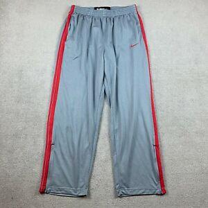 Nike Men's Basketball Sweatpants 2XL Drawstring Gray Polyester Stretch XXL