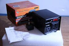 Power Bright Vc200W Transformer With Uk Adaptor - Run Us Appliances in Uk