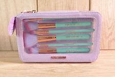 Spectrum Collections Merbabe 7 Piece Set Purple Vanity Bag Make Up Face Brushes