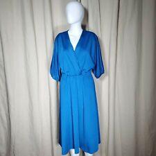Vintage 70s knit a line midi dress size medium