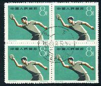China 1959 PRC C72-5 First Ntl Sports Mtg Table Tennis Scott #471 CTO Block S471