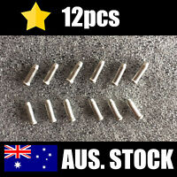 12pcs Bicycle Cable Ends (Bike) - Cable End Caps - Alloy Silver - Brake or Gear