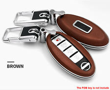 Brown Remote Keyless Case FOB Key Cover Fit For Nissan Altima Maxima Infiniti