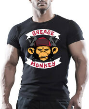 Grease Monkey T-Shirts - Print Men Women Casual Short Sleeve Graphic Tee Tops
