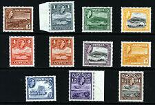 ANTIGUA 1953 Definitive Part Set SG 120a to SG 129 MINT