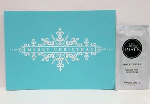 CHRISTMAS LABEL Transfer & Chalk Couture Chalk Paste Sample snowflake