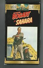 SAHARA VHS  1943 WORLD WAR 2 MOVIE HUMPFREY BOGART BRUCE BENNETT AND  CAROL NASH