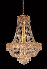 World Capital Empire 20x26 12 Light Dining Crystal Chandelier Light Gold