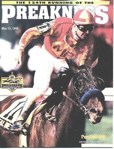 1999 - 124th Preakness Stakes program in MINT Condition - CHARISMATIC