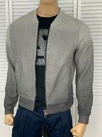 ARMANI EXCHANGE Authentic Degrade Full Zip Logo Sweatshirt Jacket Gray NWT