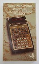 1977 Texas Instruments Ti Mba Electronic Business Calculator Original Manual Led
