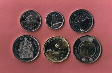 2015 CANADA 6 PIECE COIN SET UNCIRCULATED FROM MINT ROLLS CANADIAN 5¢ - $2
