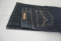 STREET ONE Ronja Damen Jeans bootcut stretch Hose getreift W26 L32 blau NEU #E13