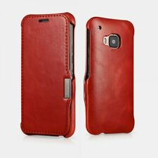 Case HTC M9 Leather Real Vintage - Red