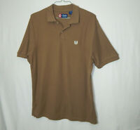 Ralph Lauren Chaps Short Sleeve Golf Polo Shirt Brown Size LARGE Mens Clothing