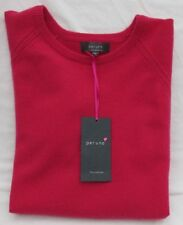 LADIES MARKS & SPENCER PER UNA HOT PINK CASHMERE SHORT SLEEVE JUMPER SIZE 14