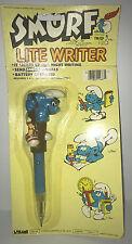 Smurf Lite Writer Pen 1982 Larami MOC